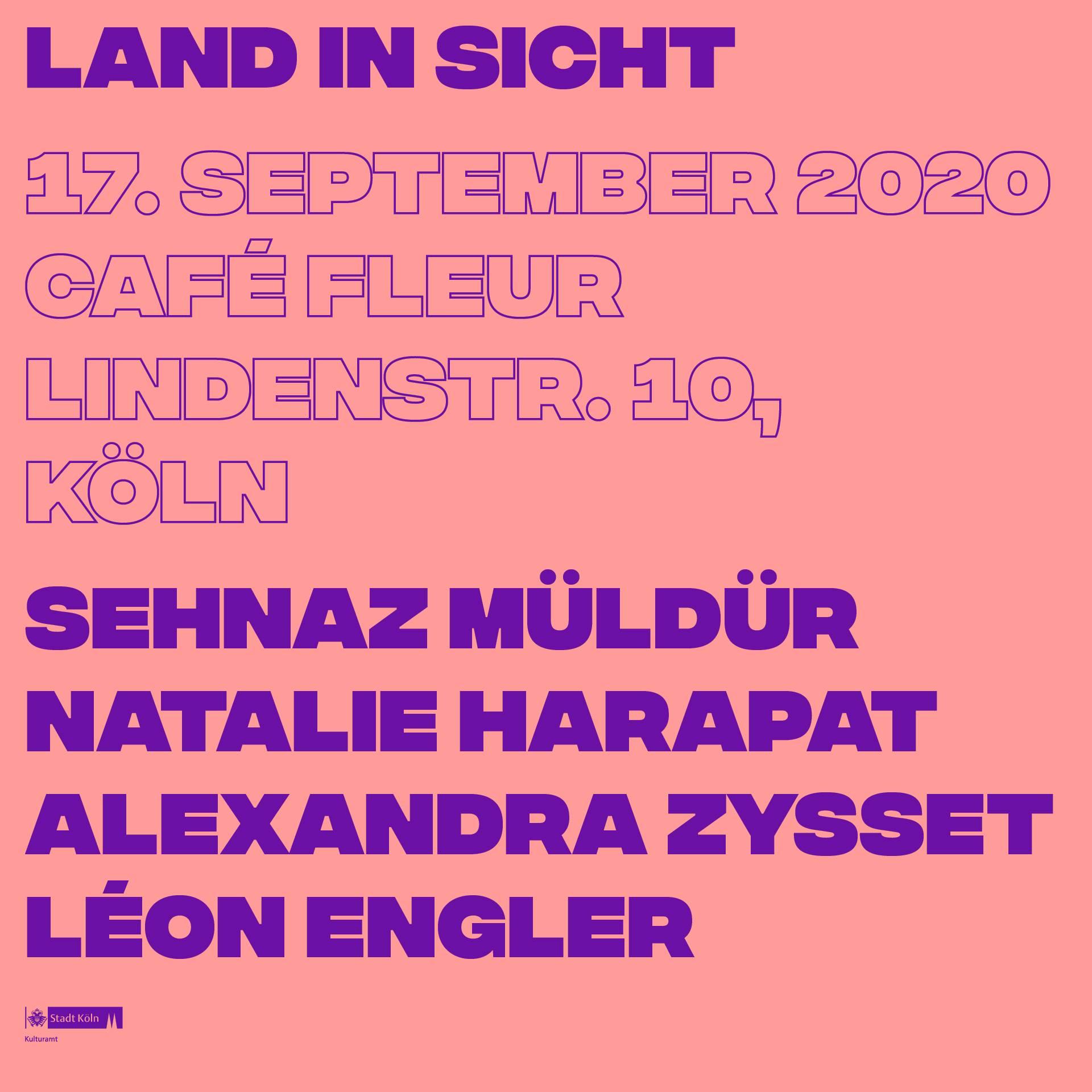 Plakat: Land in Sicht, 17.9.2020