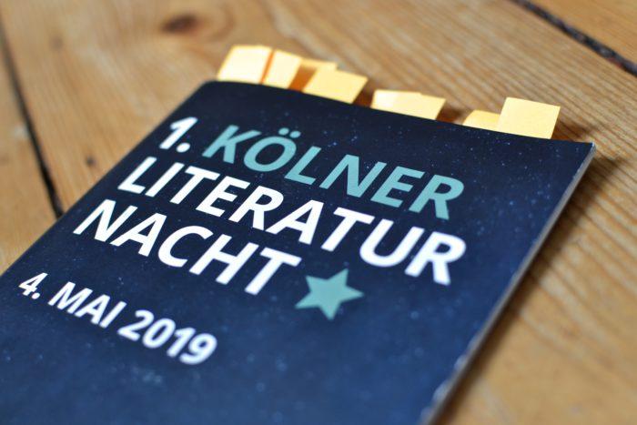 Programmheft der 1. Kölner Literaturnacht